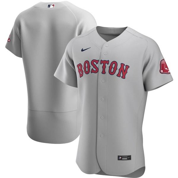 ナイキ メンズ ユニフォーム トップス Boston Red Sox Nike Road 2020 Authentic Team Jersey Gray