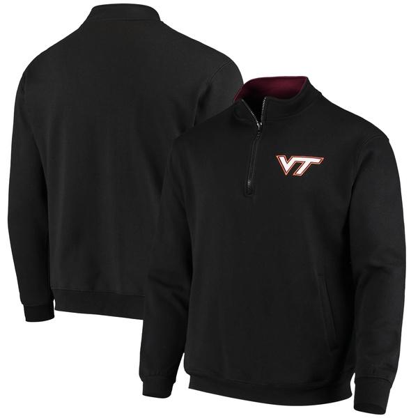 コロシアム メンズ ジャケット&ブルゾン アウター Virginia Tech Hokies Colosseum Tortugas Logo QuarterZip Jacket Maroon