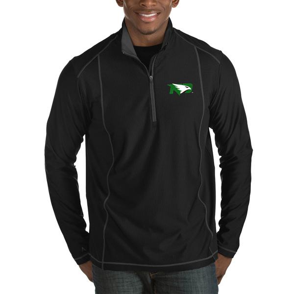 アンティグア メンズ ジャケット&ブルゾン アウター North Dakota Antigua Tempo HalfZip Pullover Big & Tall Jacket Black