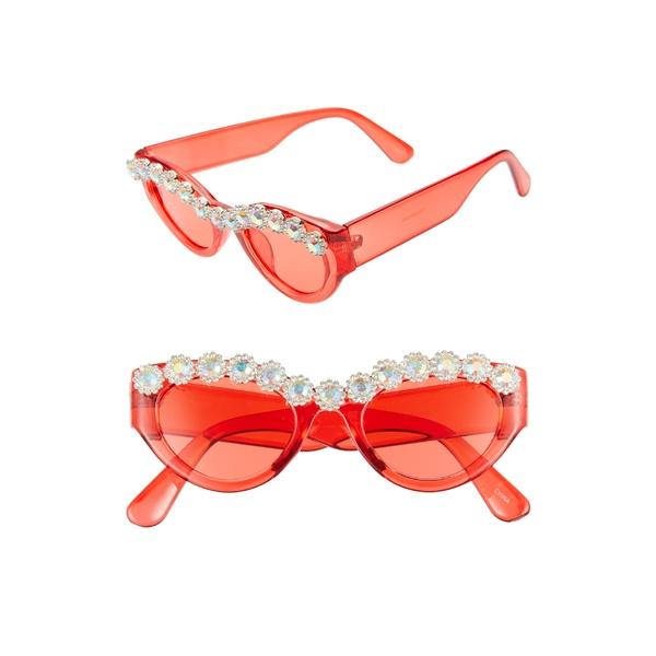ラッドプラスリファインド レディース サングラス&アイウェア アクセサリー Rad + Refined 50mm Chunky Crystal Embellished Sunglasses Red