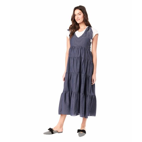ロイヤル ハナ レディース ワンピース トップス Rio Sleeveless Maternity Dress Navy/White Stripes