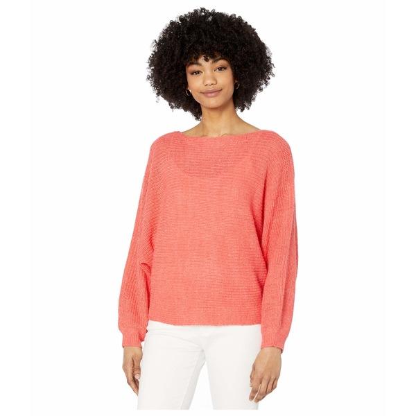 カップケーキアンドカシミア レディース ニット&セーター アウター Sonrisa Rib Knit Dolman Sweater Hot Coral