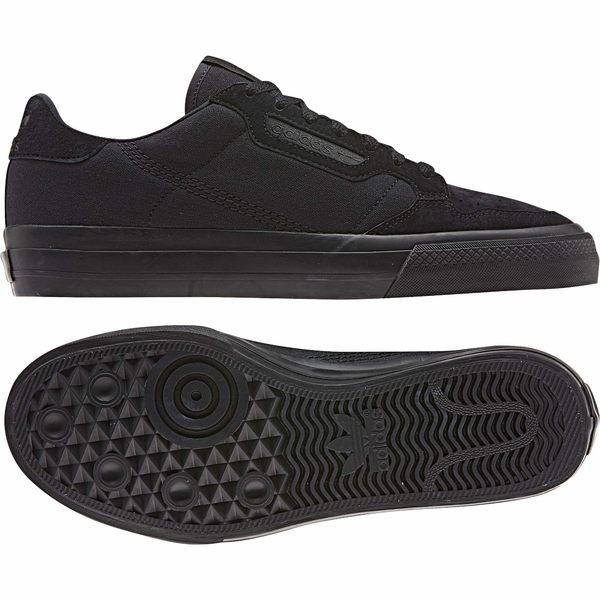 アディダス メンズ スニーカー シューズ Continental Vulc Core Black/Core Black/Footwear White