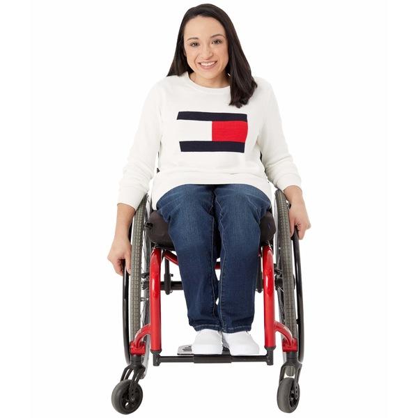 トミーヒルフィガー レディース ニット&セーター アウター Seated Fit Flag Sweater Snow White