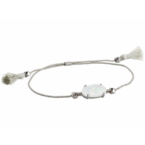 ケンドラスコット レディース ブレスレット・バングル・アンクレット アクセサリー Everlyne Friendship Bracelet Rhodium/White Opal