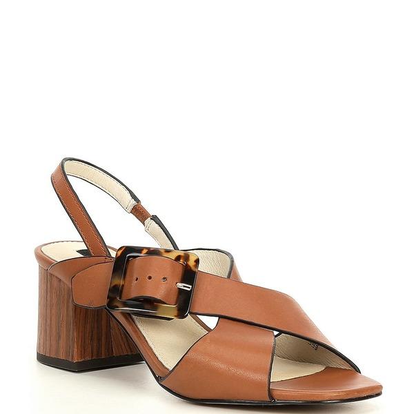 サンクチュアリー レディース サンダル シューズ Bounce Leather Block Heel Sandals Deep Honey