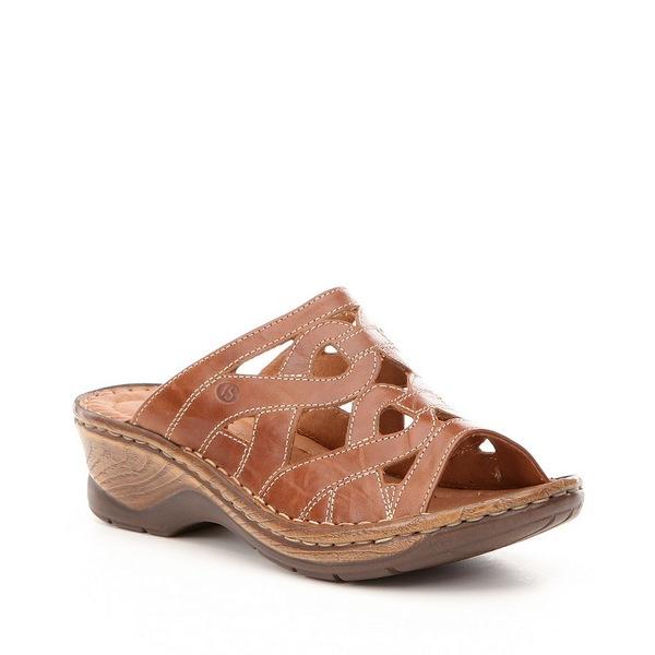 ジョセフセイベル レディース サンダル シューズ Catalonia 44 Slide-On Leather Sandals Brandy Boz