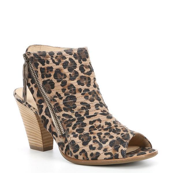 ポール・グリーン レディース ブーツ&レインブーツ シューズ Cayanne Suede Leopard Print Block Heel Booties Leopard