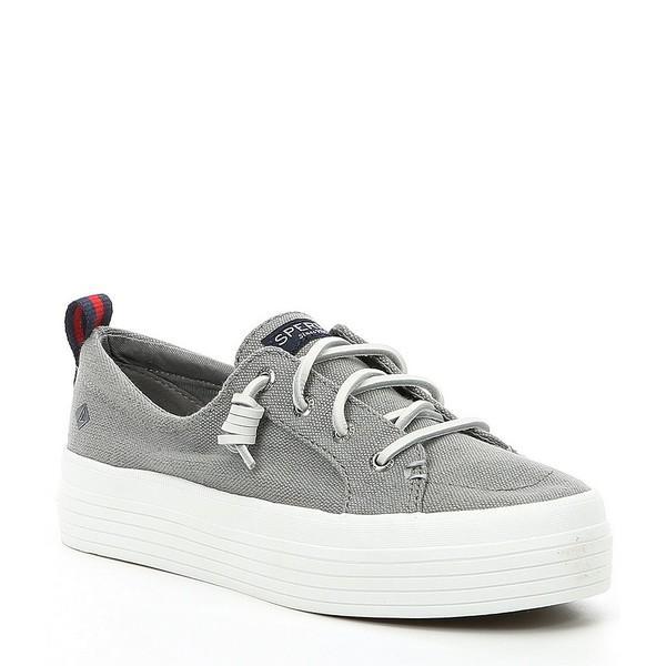 スペリー レディース スニーカー シューズ Women's Crest Vibe Triple Platform Sneakers Grey