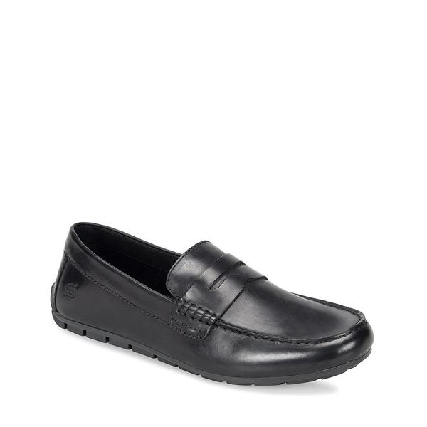 ボーン メンズ スニーカー シューズ Men's Andes Leather Loafers Black