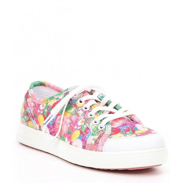 アレグリア レディース スニーカー シューズ TRAQ Alegria Lace Up Floral Print Sneaq Sneakers Chillax Pink