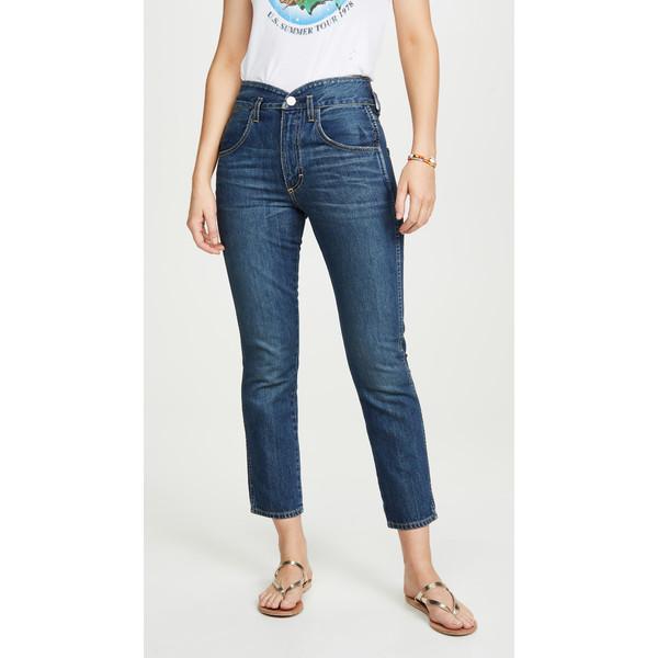 アモ レディース デニムパンツ ボトムス Tulip High Rise Slim Fit Jeans Dark Vintage