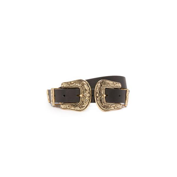 ビーロウザベルト レディース ベルト アクセサリー Baby Bri Bri Belt Black/Gold