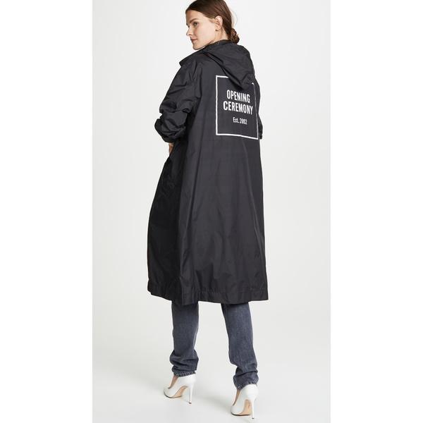 オープニングセレモニー レディース ジャケット&ブルゾン アウター Nylon Logo Trench Coat Black