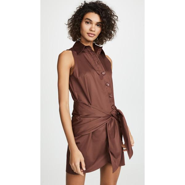 ティビ Brown レディース Detail ワンピース トップス トップス Shirt Dress with Tie Detail Brown, 画材、額縁、コピックの「風の門」:f6b26c30 --- officewill.xsrv.jp