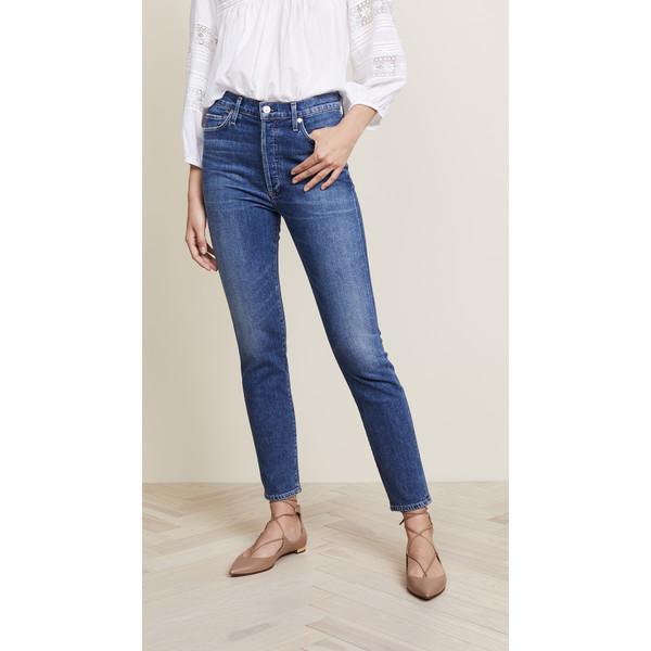 シチズンズ オブ ヒューマニティ レディース デニムパンツ ボトムス Olivia High Rise Slim Ankle Jeans Solo