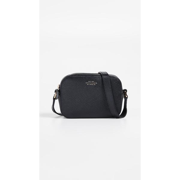 スマイソン レディース ショルダーバッグ バッグ Panama Mini Camera Bag with Leather Strap Black