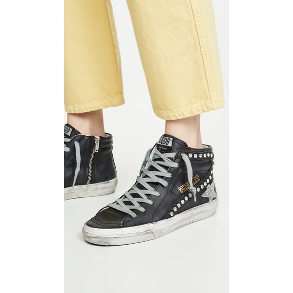 ゴールデングース レディース スニーカー シューズ Slide Sneakers Black/Crystal