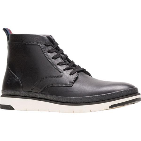 ハッシュパピー メンズ ブーツ&レインブーツ シューズ Caleb PT Ankle Boot Black Full Grain Leather