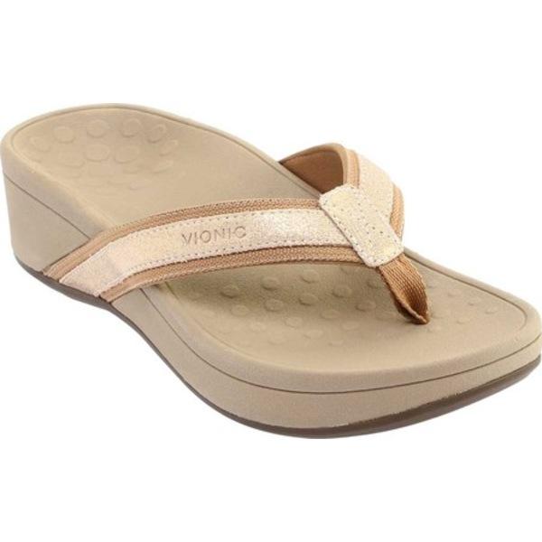 バイオニック レディース スニーカー シューズ High Tide Toe Post Sandal Champagne (Shoes.com Exclusive!)