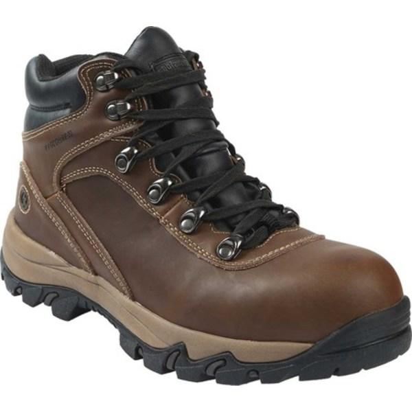 ノースサイドフットウェア メンズ ブーツ&レインブーツ シューズ Apex Mid Waterproof Hiking Boot Wide Brown Distressed Leather