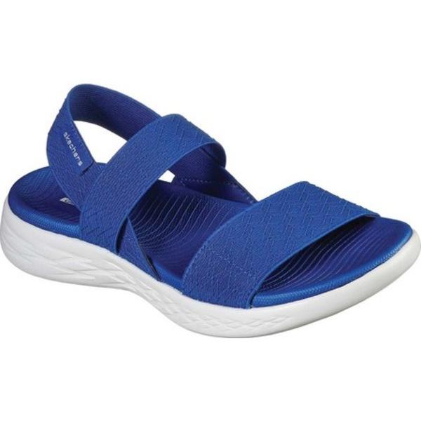 スケッチャーズ レディース サンダル シューズ On the GO 600 Girls Trip Slingback Sandal Blue