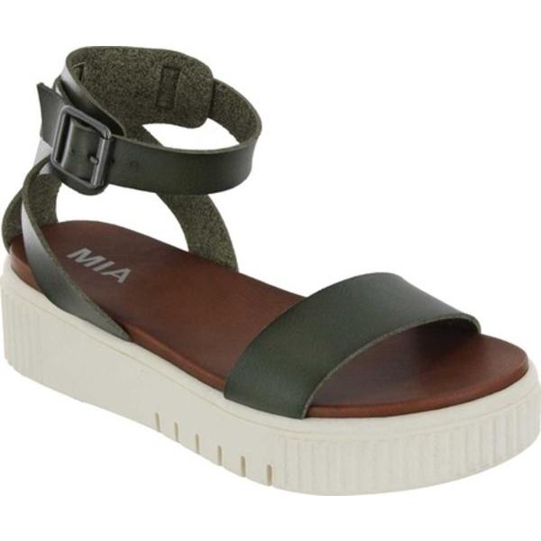 ミア レディース スニーカー シューズ Lunna Athletic Sandal Spring Khaki Vegan Leather