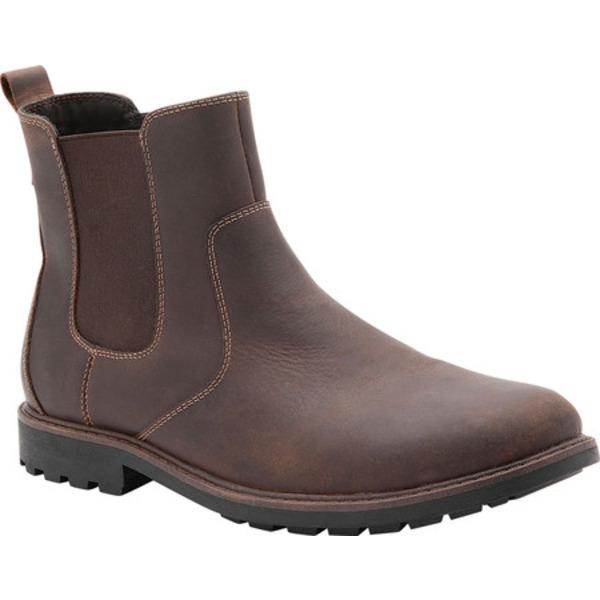 ブロンド メンズ ブーツ&レインブーツ シューズ Shadow Waterproof Chelsea Boot Brown Nubuck