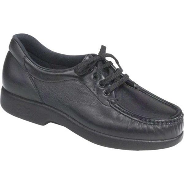エスエーエス レディース スリッポン・ローファー シューズ Take Time Moc Toe Walking Shoe Black Leather
