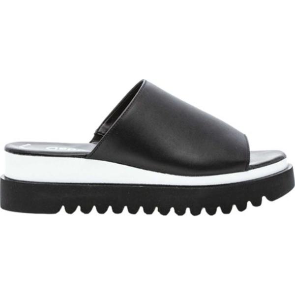 ガボール レディース サンダル シューズ 44-613 Wedge Slide Black Leather
