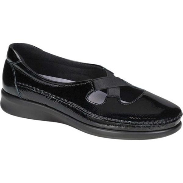 エスエーエス レディース サンダル シューズ Crissy Slip On Black Patent Leather