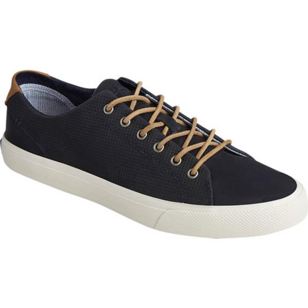 トップサイダー メンズ ブーツ&レインブーツ シューズ Striper PlushWave LTT Sneaker Navy Full Grain Leather