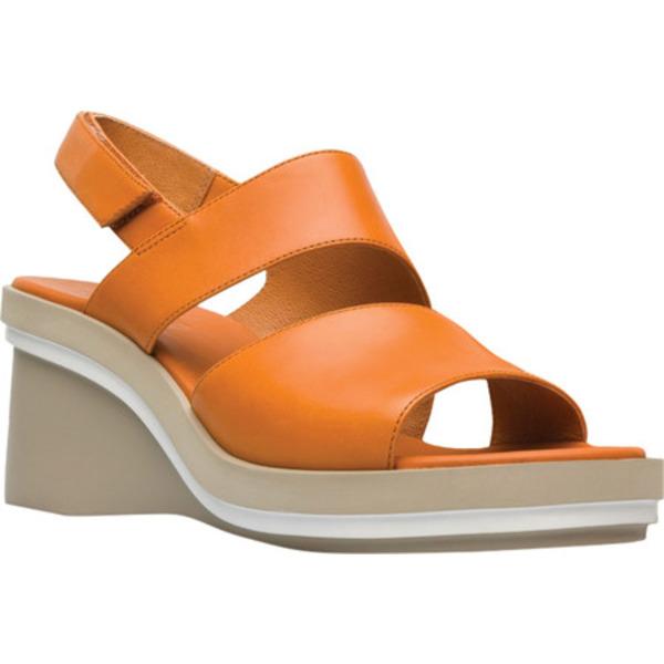 カンペール レディース サンダル シューズ Kyra Wedge Slingback Sandal Medium Orange Calfskin