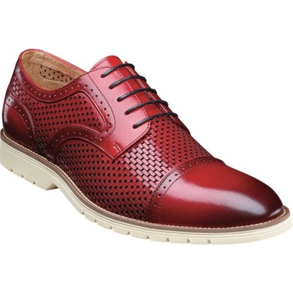 ステイシーアダムス メンズ ドレスシューズ シューズ Ellery Cap Toe Oxford Red Leather