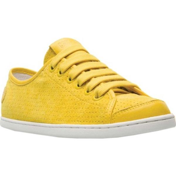カンペール レディース スニーカー シューズ Uno Sneaker Medium Yellow Perforated Nubuck