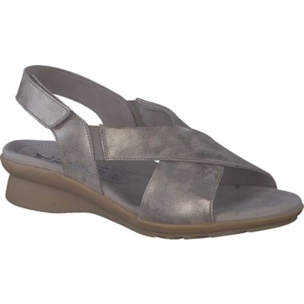 メフィスト レディース サンダル シューズ Phara Slingback Sandal Dark Taupe Monaco Smooth Leather