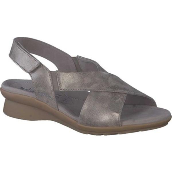 メフィスト レディース サンダル シューズ Phara Slingback Sandal Dark Taupe Monaco Smooth Leather