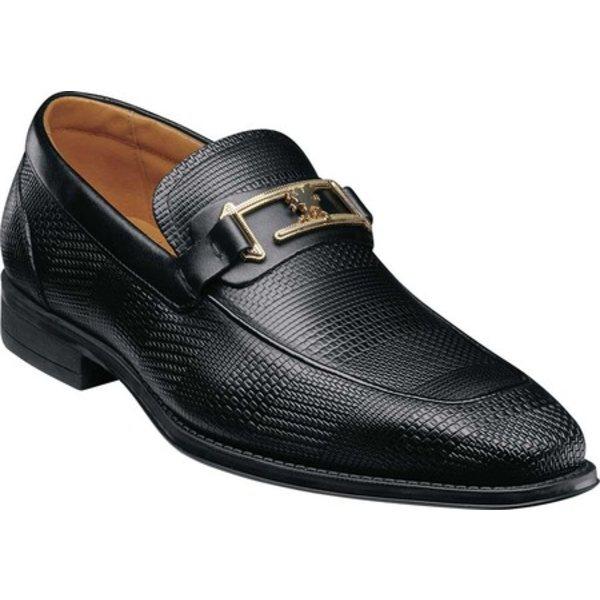 ステイシーアダムス メンズ ドレスシューズ シューズ Pomeroy Moc Toe Bit Loafer Black Leather