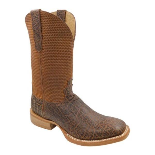 ツイステッド エックス メンズ ブーツ&レインブーツ シューズ MRA0007 Rancher Cowboy Boot Cognac Elephant Print/Cognac Basketweave Leather