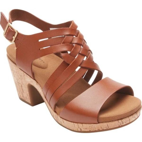 ロックポート レディース サンダル シューズ Vivianne Woven Slingback Sandal Tan Leather