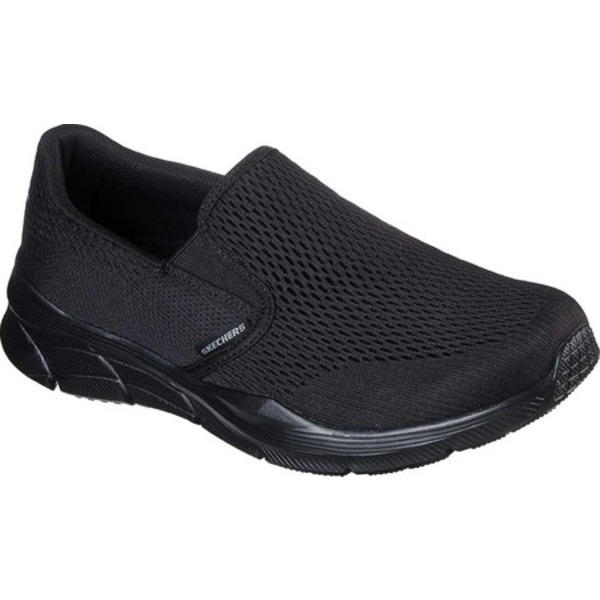 スケッチャーズ メンズ スニーカー シューズ Relaxed Fit Equalizer 4.0 Triple-Play Slip On Black/Black