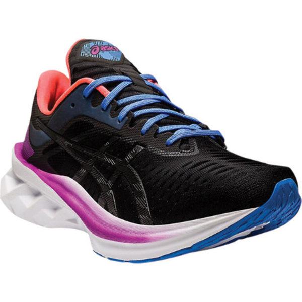 アシックス レディース スニーカー シューズ Novablast Running Sneaker Black/Black