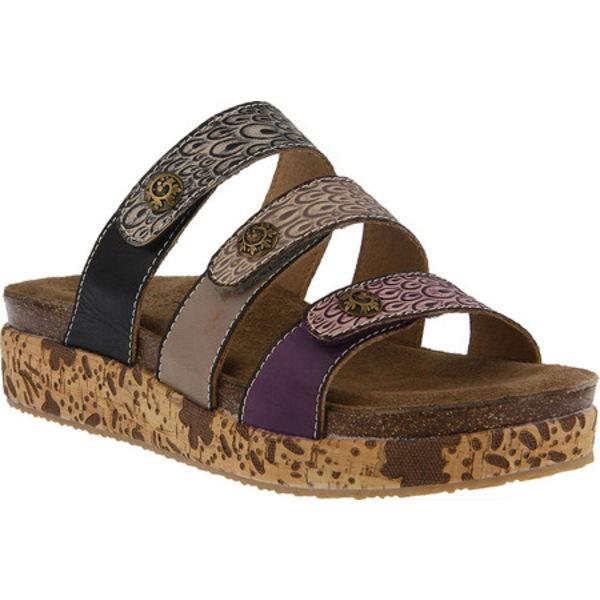 スプリングステップ レディース サンダル シューズ Keena Strappy Slide Purple Multi Leather