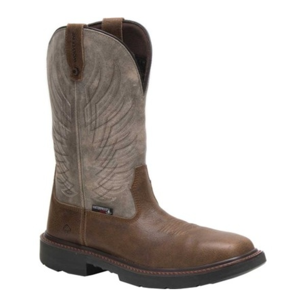 ウルヴァリン メンズ ブーツ&レインブーツ シューズ Stockman DuraShocks Composite Toe Cowboy Boot Grey Full Grain Leather