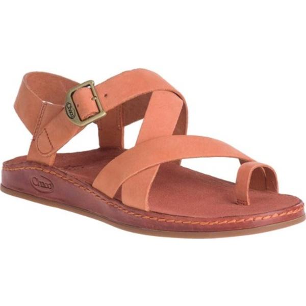 チャコ レディース サンダル シューズ Wayfarer Toe Loop Sandal Carnelian Full Grain Leather
