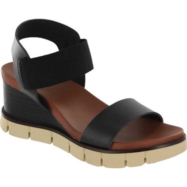 ミア レディース サンダル シューズ Adley Wedge Sandal Black Vegan Leather