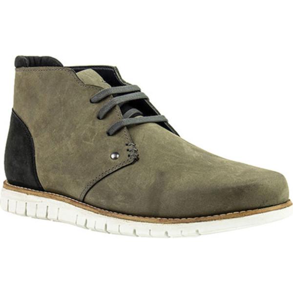 クレボ メンズ ブーツ&レインブーツ シューズ Gabor Chukka Boot Grey Leather