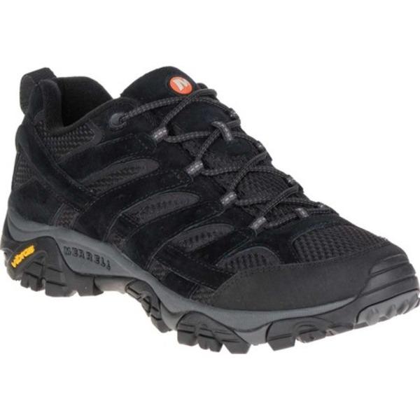 メレル メンズ ブーツ&レインブーツ シューズ Moab 2 Vent Hiking Shoe Black Night Pigskin Leather/Mesh