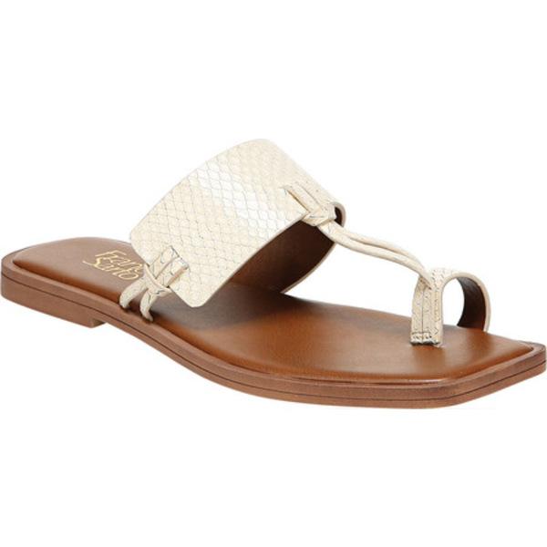 フランコサルト レディース サンダル シューズ Milly Toe Loop Sandal Cream Tonal Python Leather