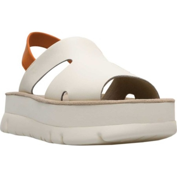 カンペール レディース スニーカー シューズ Oruga Up Slingback Sandal Light Beige Calf/Sheep Full Grain Leather